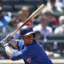 Chicago Cubs Starlin Castro bats in a baseball game against the New York Mets at Citi Field in New York, Monday, Aug. 18, 2014. (AP Photo/Kathy Willens)