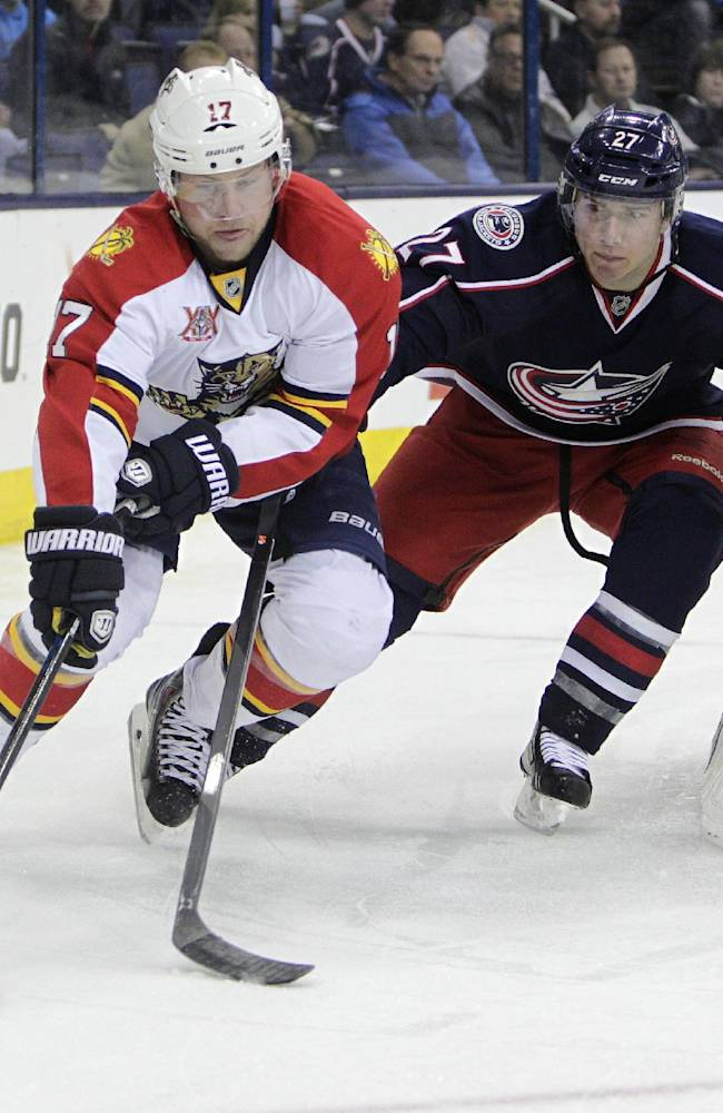 Blue Jackets too much for Panthers 6-3
