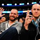 NEW YORK, NY - NOVEMBER 22:  New York Mets players Vic Black (L) and Zack Wheeler (R) look on during a game between the New York Knicks and Philadelphia 76ers at Madison Square Garden on November 22, 2014 in New York City. NOTE TO USER: User expressly acknowledges and agrees that, by downloading and/or using this photograph, user is consenting to the terms and conditions of the Getty Images License Agreement.  (Photo by Alex Goodlett/Getty Images)