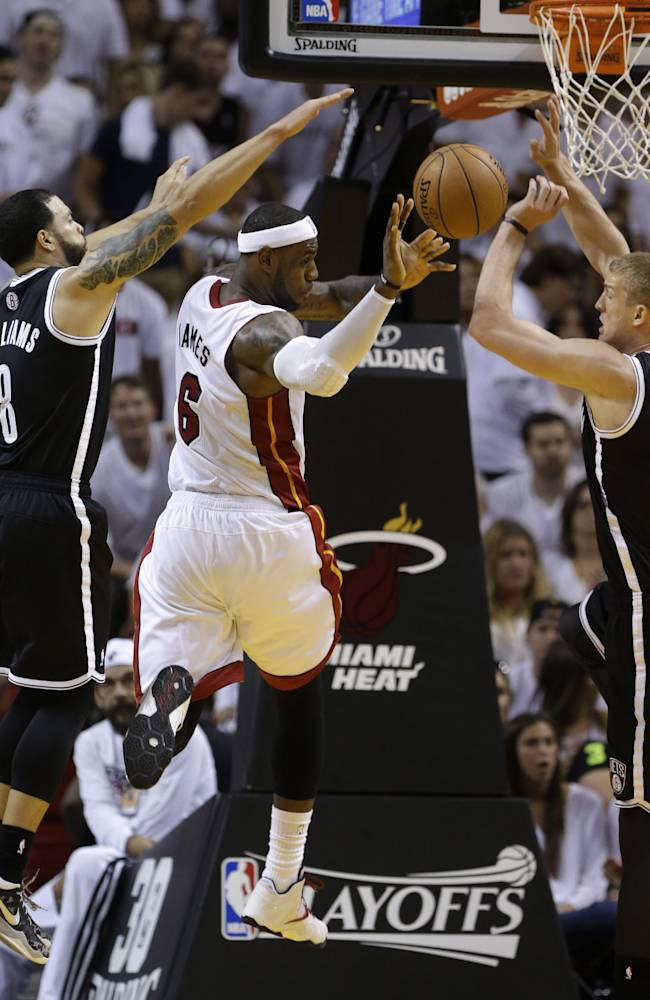 Heat solve Nets hex, win 107-86 in Game 1
