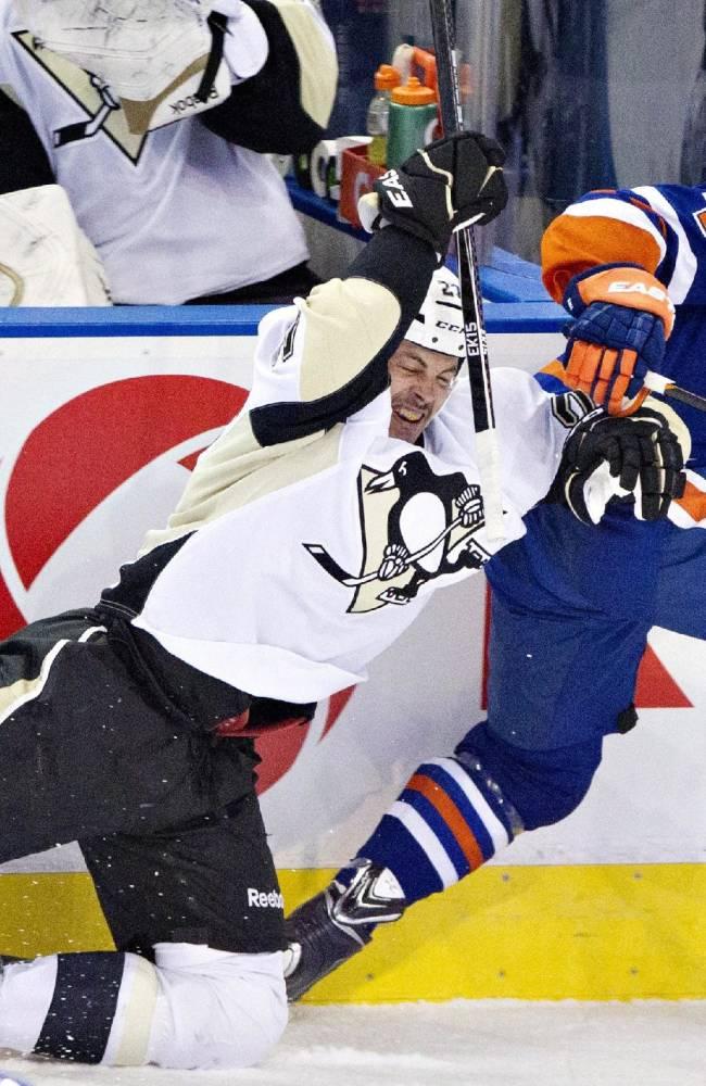 Nugent-Hopkins' OT goal leads Oilers past Pens 4-3