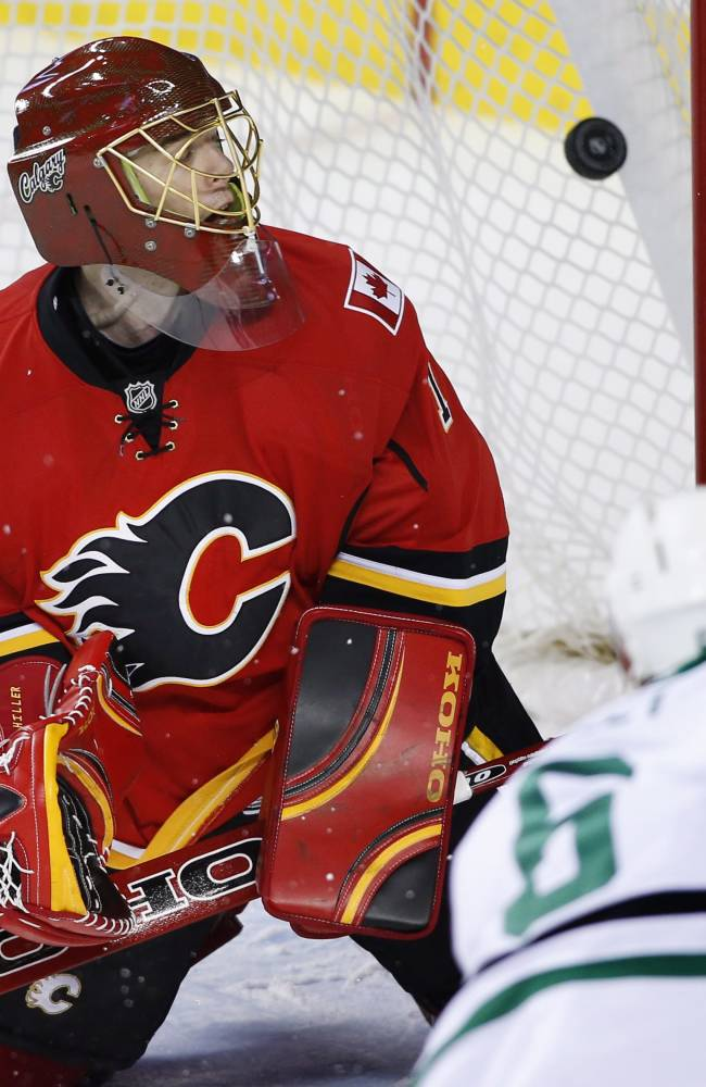 Benn leads Stars to 2-1 win over Flames
