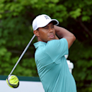 Tiger Woods tees off on the 17th hole during the first round of the Greenbrier Classic golf tournament at the Greenbrier Resort in White Sulphur Springs, W.Va., Thursday July 2, 2015 (AP Photo/Chris Tilley)