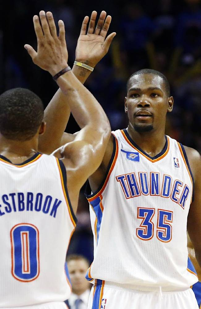 Durant shouldering even more of load for Thunder