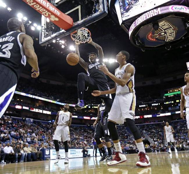 Gay scores 41, Kings down Pelicans 114-97