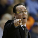 Wichita State head coach Gregg Marshall directs his team during the second half of an NCAA college basketball game against Drake, Wednesday, Jan. 2, 2013, in Des Moines, Iowa. Wichita State won 75-63. (AP Photo/Charlie Neibergall)