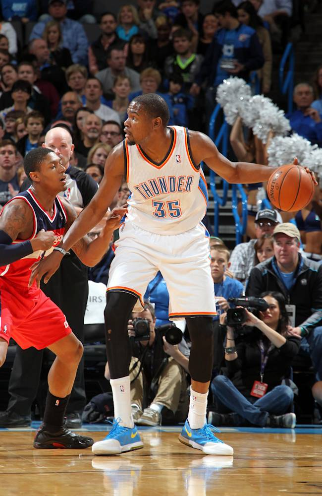 Durant scores 33, Thunder beat Wizards in OT