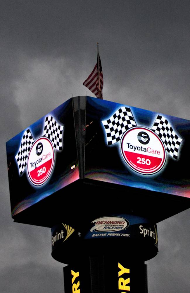 Rain gives rookie Larson top spot at Richmond