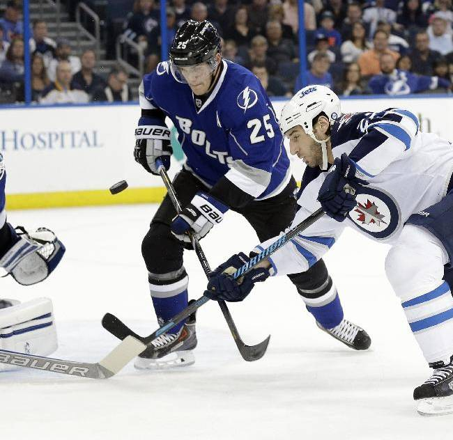 Scheifele scores in OT, Jets top Lightning 2-1