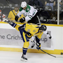 Nashville Predators left wing James Neal (18) collides with Dallas Stars left wing Jamie Benn (14) in the first period of an NHL hockey game Saturday, Oct. 11, 2014, in Nashville, Tenn The Associated Press