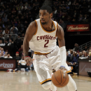 CLEVELAND, OH - MARCH 8: Kyrie Irving #2 of the Cleveland Cavaliers drives to the hoop against the Memphis Grizzlies at The Quicken Loans Arena on March 8, 2013 in Cleveland, Ohio. (Photo by David Liam Kyle/NBAE via Getty Images)