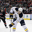 Buffalo Sabres' Luke Adam (72) skates against the Carolina Hurricanes during the first period of an NHL hockey game in Raleigh, N.C., Friday, Jan. 6, 2012 The Associated Press