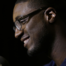 Indiana Pacers' Roy Hibbert speaks during the NBA All Star basketball news conference, Friday, Feb. 14, 2014, in New Orleans. The 63rd annual NBA All Star game will be played Sunday in New Orleans The Associated Press
