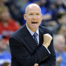 Seton Hall coach Kevin Willard reacts during the first half of an NCAA college basketball game against Rutgers Saturday, Dec. 6, 2014, in Newark, N.J. Seton Hall won 81-54. (AP Photo/Bill Kostroun)
