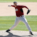 Arizona Diamondbacks pitcher J.J. Putz throws against the Chicago White Sox in the sixth inning during an exhibition baseball game in Glendale, Ariz., Saturday, March 8, 2014 The Associated Press