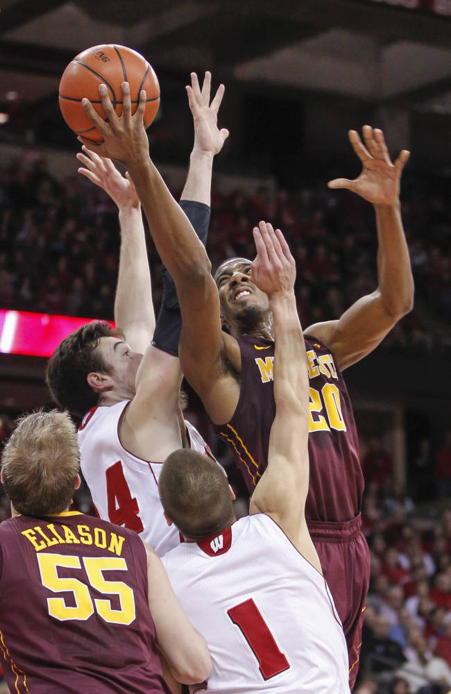 No. 21 Wisconsin beats Minnesota 78-70