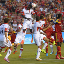 D.C. United forward Eddie Johnson (7) heads the ball off a penalty kick during the first half against Real Salt Lake during an MLS soccer game Saturday, Aug. 9, 2014, in Sandy, Utah The Associated Press