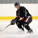 Ottawa Senators' Kyle Turris takes part in a skating drill during NHL hockey training camp in Ottawa, Friday, Sept 19, 2014 The Associated Press