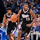 OKLAHOMA CITY, OK - APRIL 15: Tyreke Evans #13 of the Sacramento Kings advances the ball against the Oklahoma City Thunder on April 15, 2013 at the Chesapeake Energy Arena in Oklahoma City, Oklahoma. (Photo by Layne Murdoch Jr./NBAE via Getty Images)