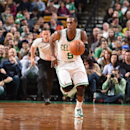 BOSTON, MA - DECEMBER 17: Rajon Rondo #9 of the Boston Celtics handles the ball against the Orlando Magic during the game on December 17, 2014 at the TD Garden in Boston, Massachusetts. (Photo by Brian Babineau /NBAE via Getty Images)