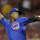 Chicago Cubs relief pitcher Pedro Strop throws against the Cincinnati Reds in the eighth inning of a baseball game, Tuesday, Aug. 26, 2014, in Cincinnati The Associated Press