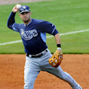 Tampa Bay Rays third baseman Evan Longoria throws to first against the Montgomery Biscuits during a spring exhibition game in Montgomery, Ala., Saturday March 29, 2014 The Associated Press