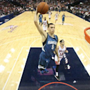 ST. LOUIS, MO - OCTOBER 24: Zach LaVine #8 of the Minnesota Timberwolves goes for the dunk against the Chicago Bulls during the game on October 24, 2014 at Scottrade Center in St. Louis, Missouri. (Photo by David Sherman/NBAE via Getty Images)