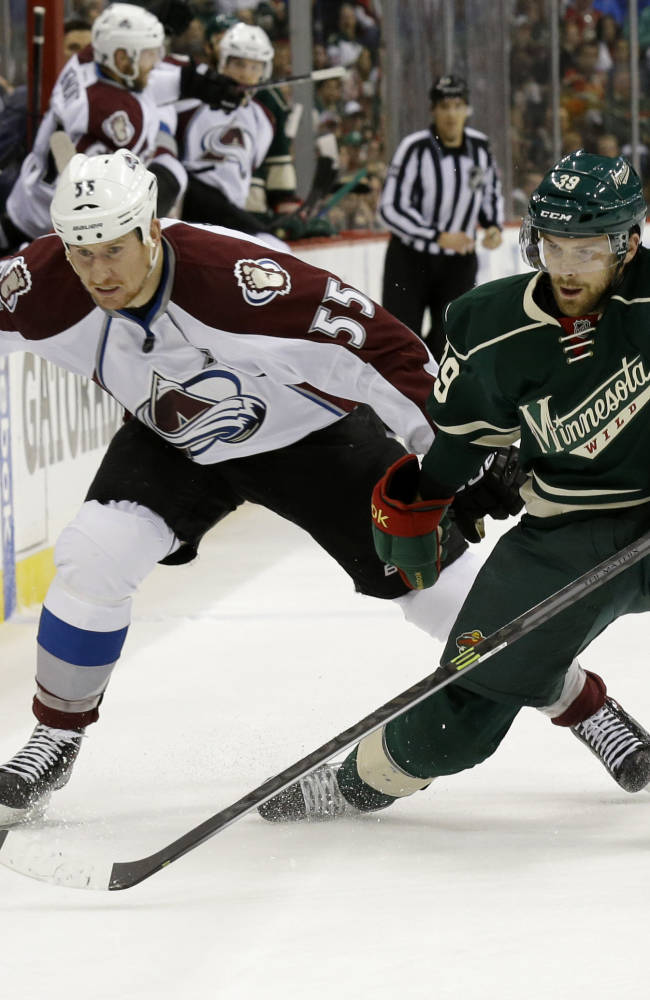 Parise lifts Wild past Avs 5-2, to tie series at 3