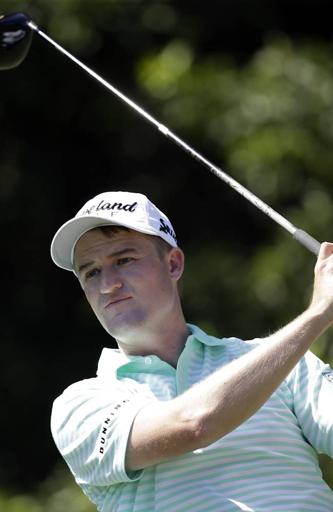 Russell Knox hits from the third tee during the third round of the Honda Classic golf tournament, Saturday, March 1, 2014, in Palm Beach Gardens, Fla