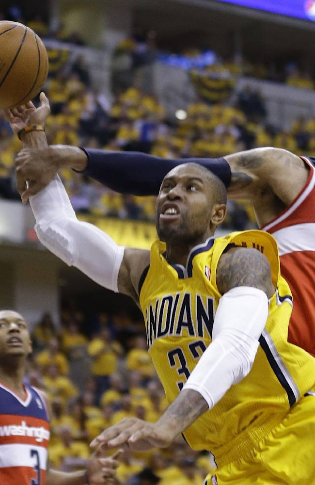 Wizards take 1-0 lead with 102-96 win at Indiana