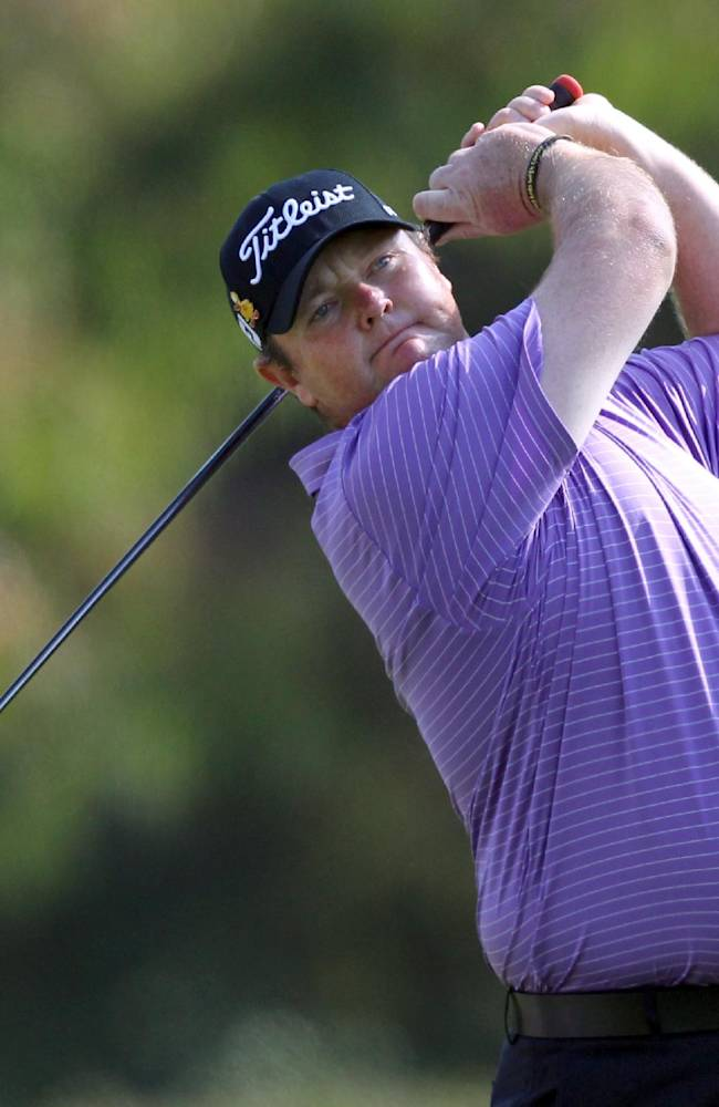 In this Feb. 19, 2012 file photo, Jarrod Lyle, of Australia, watches his drive on the second tee in the final round of the Northern Trust Open golf tournament at Riviera Country Club in Los Angeles. When cancer survivor Lyle returns to golf after a 20-month layoff at the Australian Masters in Royal Melbourne on Thursday, Nov. 14, 2013, he expects a number of teary eyes on the tee. His among them