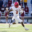 Louisville quarterback Lamar Jackson has won two of the three player of the year awards. (AP Photo/Winslow Townson)