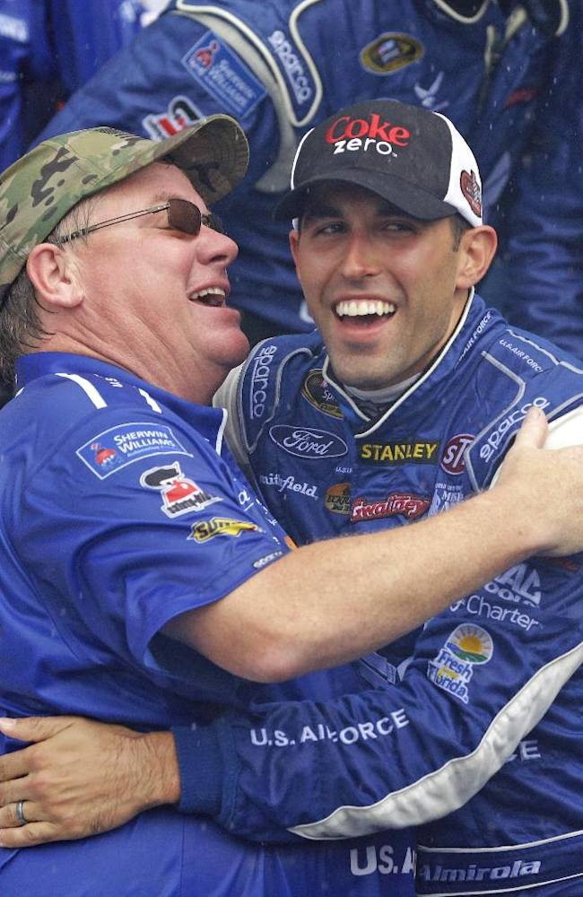 Almirola: Congrats from Petty a special moment