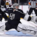 Los Angeles Kings goalie Jonathan Quick is scored on by Chicago Blackhawks right wing Patrick Kane during the first period of an NHL hockey game, Wednesday, Jan. 28, 2015, in Los Angeles The Associated Press