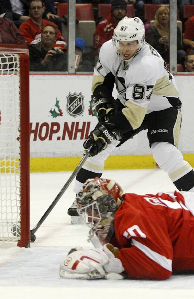 Malkin injured in Penguins' 4-1 win over Red Wings
