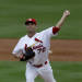 St. Louis Cardinals pitcher Tyler Lyons (70) throws a pitch during the second inning of an exhibition spring training baseball game against the Miami Marlins, Thursday, Feb. 28, 2013, in Jupiter, Fla