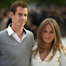 British tennis player Andy Murray (L) and girlfriend Kim Sears arrive at London Fashion Week on September 17, 2012 (AFP Photo/Andrew Cowie)