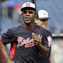 Atlanta Braves center fielder B.J. Upton warms up before an exhibition baseball game against the Philadelphia Phillies Wednesday, March 5, 2014, in Clearwater, Fla The Associated Press