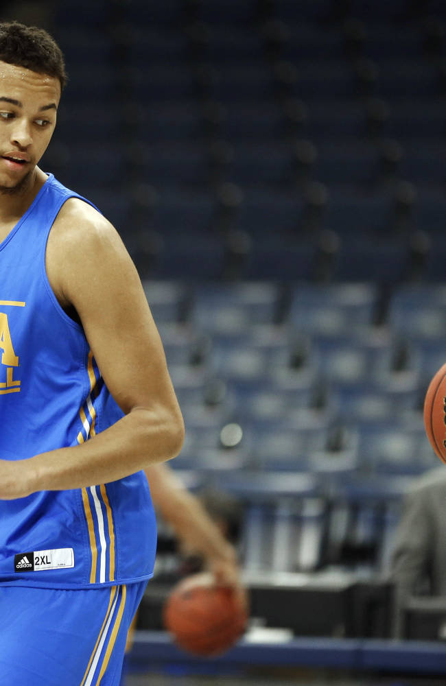 UCLA's Kyle Anderson works out during practice at the NCAA college basketball tournament, Wednesday, March 26, 2014, in Memphis, Tenn. UCLA plays Florida in a regional semifinal on Thursday