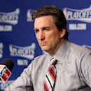 MEMPHIS, TN - MAY 3: Head Coach Vinny Del Negro of the Los Angeles Clippers speaks at a press conference following his team's series loss to the Memphis Grizzlies in Game Six of the Western Conference Quarterfinals during the 2013 NBA Playoffs on May 3, 2013 at FedExForum in Memphis, Tennessee. (Photo by Joe Murphy/NBAE via Getty Images)