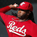 Cincinnati Reds pitcher Johnny Cueto throws during spring training baseball practice in Goodyear, Ariz., Tuesday, Feb. 18, 2014 The Associated Press