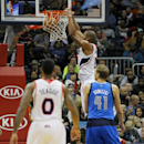 Atlanta Hawks center Al Horford dunks in the third quarter of an NBA basketball game against the Dallas Mavericks in Atlanta, Friday, Nov. 29, 2013. The Hawks won 88-87 The Associated Press