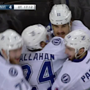 R2, Gm3: A shot caroms to Brian Boyle at the side of the net, who fires it into the twine to give the Lightning a 5-4 overtime win