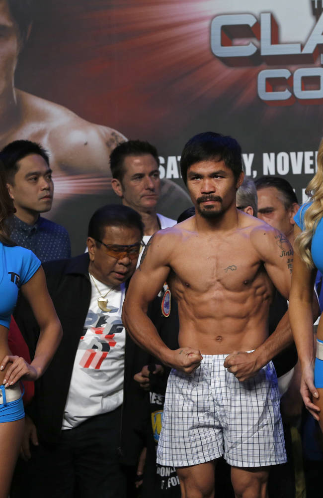 Pacquiao, Rios make weight for fight
