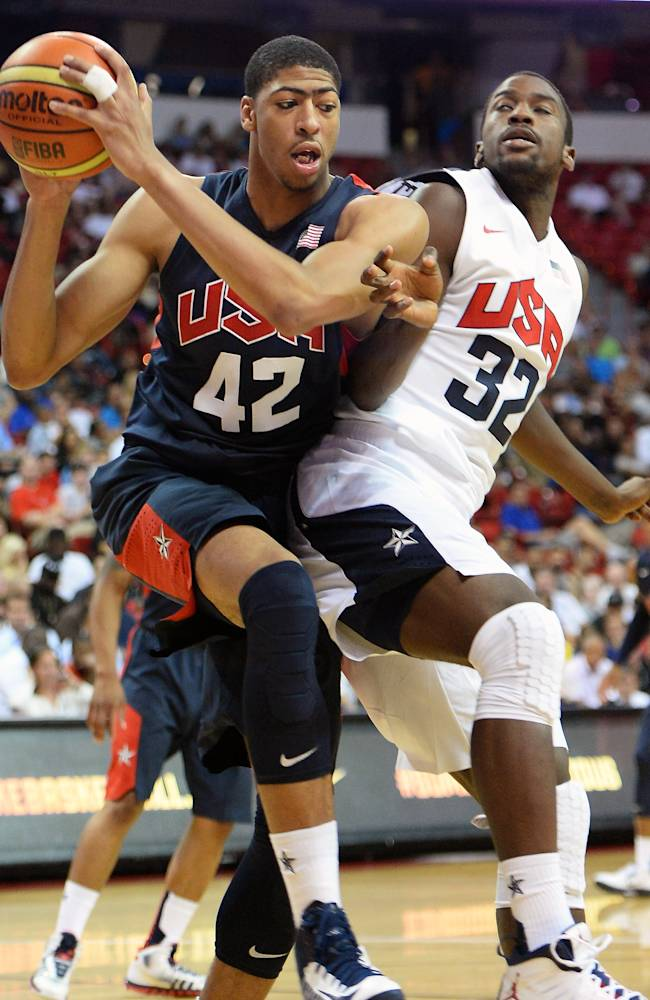 USA Basketball Men's National Team Blue And White Game