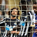 Chelsea's Didier Drogba, right, celebrates his goal during their English Premier League soccer match against Newcastle United at St James' Park, Newcastle, England, Saturday, Dec. 6, 2014