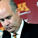 Minnesota director of athletics Norwood Teague pauses before speaking at an NCAA college basketball news conference announcing that men's head coach Tubby Smith has been fired Monday, March 25, 2013, in Minneapolis. (AP Photo/The St. Paul Pioneer Press, John Doman)