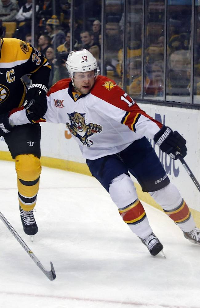 Lucic scores twice, Bruins beat Panthers 6-2