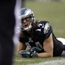 Philadelphia Eagles' Riley Cooper reacts to an official after an incomplete pass during the second half of an NFL football game against the Arizona Cardinals, Sunday, Dec. 1, 2013, in Philadelphia The Associated Press