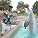 Dwyane Wade Visits SeaWorld San Diego Getty Images